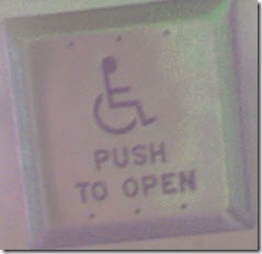 Automatic door opener button