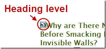 Heading level 3 indicated as post title